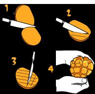 マンゴの切り方