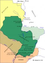 パラグアイ戦争地図
