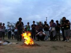 震災で亡くなった方への鎮魂の火