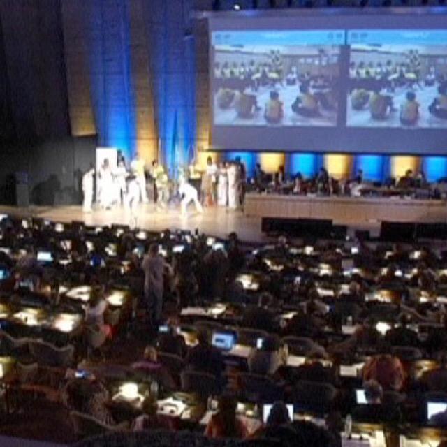 ユネスコ会議でのカポエイラの実演